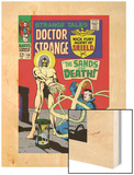 Strange Tales No.158 Cover: Dr. Strange and Living Tribunal Wood Print by Marie Severin