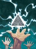 Guardians No.1 Cover: Guardians Plastic Sign by Casey Jones