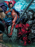 Ultimatum No.4 Cover: Spider-Man, Daredevil, Dr. Strange and Hulk Plastic Sign by David Finch