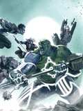 Fear Itself: Hulk vs. Dracula No.2 Cover: Hulk Fighting and Screaming Plastic Sign by Gabriele DellOtto