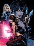 Ultimate Power No.6 Cover: Invisible Woman, Wasp, Scarlet Witch and Power Princess Plastic Sign by Greg Land