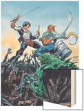 StarJammers No.3 Cover: Chod, Raza and Starjammers Wood Print by Jorge Lucas