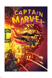 Captain Marvel 16 Cover: Captain Marvel, Spider Woman, Hawkeye Wall Decal by Joe Quinones