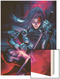 New Exiles No.9 Cover: Psylocke Wood Print by Alan Davis