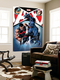 A+X 12 Cover: Captain America, Jubilee, Wonder Man, Beast Wall Mural by Mike Deodato