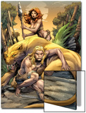 Ka-Zar No.1 Cover: Ka-Zar, Zabu, and Shanna The She-Devil Prints by Pascal Alixe