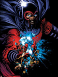 March On Ultimatum Saga Cover: Magneto Plastic Sign by David Finch