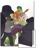 Marvel Adventures Super Heroes No.15 Cover: Tigra and Hulk Poster by Sean Galloway