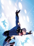 Fear Itself: The Home Front No.3 Cover: Speedball Jumping Plastic Sign by Marko Djurdjevic