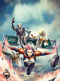 Thunderbolts No.161 Cover: Songbird, Moonstone, Ghost, and Mach-V Flying Plastic Sign by Jean-Sebastien Rossbach