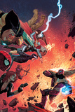 What If Avx 4 Cover: Wolverine, Iron Man, Thor, Hulk, Cyclops, Black Widow, Hawkeye, Magneto Plastic Sign by Jorge Molina