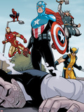 Heroic Age: One Month to Live No.5: Captain America, Wolverine, Iron Man, Thor, and Spider-Man Plastic Sign by Jamie McKelvie