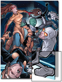 Young Allies No.5 Cover: Nomad, Gravity, Firestar, and Spider-Girl Fighting Prints by David LaFuente