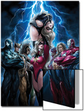 Ms. Marvel No.44 Cover: Ms. Marvel, Spider-Man, Iron Patriot, Wolverine, Ares, Hawkeye and Sentry Posters by Sana Takeda