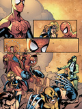 Marvel Team-Up No.12 Group: Spider-Man, Wolverine, She-Hulk, Warbird and Dr. Strange Plastic Sign by Paco Medina