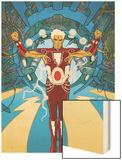 Warlock No.1 Cover: Adam Warlock Charging Print by J.D. Cuban