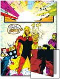 Infinity Gauntlet No.6 Group: Adam Warlock, Thanos, Thor and Hulk Fighting Prints by George Perez