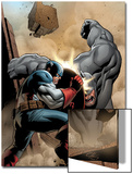 Marvel Adventrues Super Heroes No.5 Cover: Captain America and Rhino Fighting Art by Clayton Henry