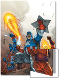 The New Invaders No.2 Cover: Captain America Art by Scott Kolins