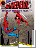 Daredevil No.16 Cover: Spider-Man and Daredevil Charging Prints by John Romita Sr.