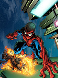 Timestorm 2009/2099 No.4 Cover: Spider-Man and Ghost Rider Wall Decal by Tom Raney