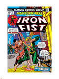 The Immortal Iron Fist: Marvel Premiere No.16 Cover: Iron Fist and The Scythe Plastic Sign by Gil Kane