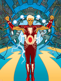 Warlock No.1 Cover: Adam Warlock Charging Wall Decal by J.D. Cuban