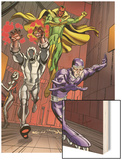 Exiles No.5 Group: Vision, Ultron and Machine Man Wood Print by Casey Jones