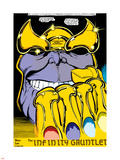 Infinity Gauntlet No.2 Headshot: Thanos Plastic Sign by George Perez