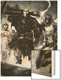 Secret Warriors No.7 Group: Scourge, Ghost, Headsman and Ant-Man Wood Print by Alessandro Vitti