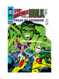 Tales to Astonish No.81 Cover: Hulk and Boomerang Plastic Sign by Dick Ayers