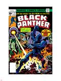 Black Panther No.2 Cover: Black Panther, Princess Zanda and Hatch-22 Charging Znaki plastikowe autor Jack Kirby