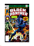 Black Panther No.2 Cover: Black Panther, Princess Zanda and Hatch-22 Charging Plastic Sign by Jack Kirby