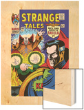 Strange Tales No.148 Cover: Dr. Strange, Ancient One and Kaluu Wood Print by Bill Everett