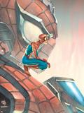 Mega Morphs No.3 Cover: Spider-Man Plastic Sign by Lou Kang