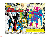 Infinity Gauntlet No.5 Group: Thanos Plastic Sign by George Perez