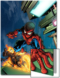 Timestorm 2009/2099 No.4 Cover: Spider-Man and Ghost Rider Print by Tom Raney
