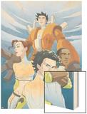 Guardians No.4 Cover: Guardians Wood Print by Casey Jones