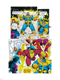 Infinity Gauntlet No.6 Group: Thanos, Hulk, Thor and Dr. Strange Plastic Sign by George Perez