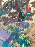 Mega Morphs No.2 Cover: Spider-Man and Hulk Wall Decal by Lou Kang