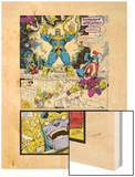 Infinity Gauntlet No.4 Group: Thanos, Captain America and Drax The Destroyer Art by George Perez