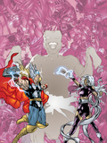 Contest Of Champions II No.3 Cover: Thor and Storm Plastic Sign by Michael Ryan