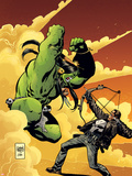 Marvel Universe vs. The Punisher No.2 Cover: Hulk Fighting Punisher Plastic Sign by Goran Parlov