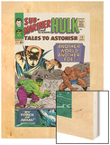 Tales to Astonish No.73 Cover: Hulk and Uatu The Watcher Wood Print by Vince Colletta