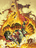 Fear Itself: Fearsome Four No.4 Cover: She-Hulk, Man-Thing, Howard The Duck, and Nighthawk Wall Decal by Michael William Kaluta