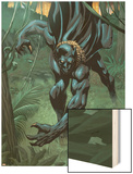 Black Panther 2099 No.1 Cover: Black Panther Wood Print by Pat Lee