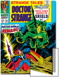 Strange Tales No.162 Cover: Dr. Strange and Nebulos Flying Prints by Dan Adkins
