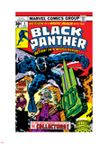 Black Panther No.4 Cover: Black Panther, Princess Zanda, Little and Abner Fighting Plastic Sign by Jack Kirby