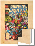 Infinity Gauntlet No.3 Cover: Adam Warlock Wood Print by George Perez