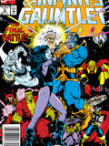 Infinity Gauntlet No.6 Cover: Adam Warlock, Thanos, Nebula, Silver Surfer, Hulk and Thor Fighting Prints by George Perez